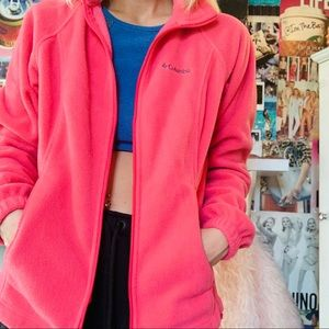 Pink women's Columbia jacket size med